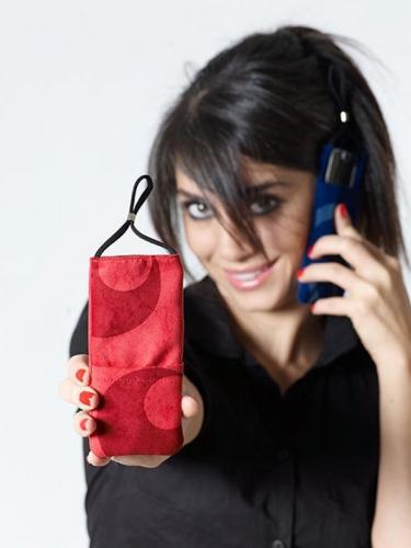 eWall  ETUI ZA MOBILNE TELEFONE RDEČA RETRO XL